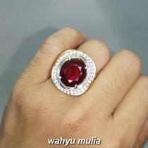 natural Batu Cincin Garnet Merah Gelap Asli srilangka bersertifikat delima ciri harga asal berkhodam_3