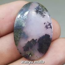 Batu Akik Badar Lumut Hijau Kristal Trenggalek Asli berkhodam bacaan mantra merawat antik bagus_3