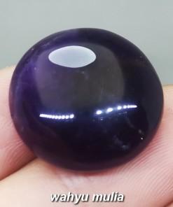 Batu Akik Kecubung Wulung hitam tembus senter ungu Asli bundar berkhodam ciri harga khasiat dijual_1