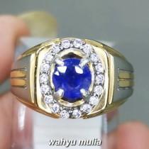 Batu Blue Safir Ceylon Srilangka Asli bersertifikat natural bagus pria wanita_5