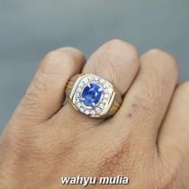 Batu Cincin Natural Blue Safir Srilangka Selon Asli bersertifikat bagus_4