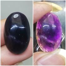 Batu Kecubung Wulung hitam tembus sinar ungu Asli bermanfaat berenergi terapi ciri mantra kegunaan khodam_7