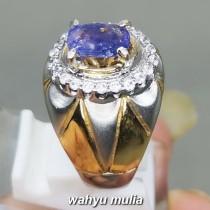 Cincin Batu Natural Blue Safir Srilangka Asli natural original bersertifikat bagus pria wanita berkhasiat_3