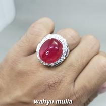 Batu Akik Merah Delima Ruby Top Quality Asli besar jumbo
