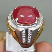 Batu Akik Merah Ruby Besar Natural Asli mozambik