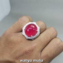 Batu Cincin Merah Delima Ruby berkualitas Asli kantoran besar