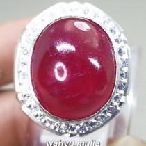 Batu Merah Delima Ruby Besar bagus ring perak Asli darah merpati
