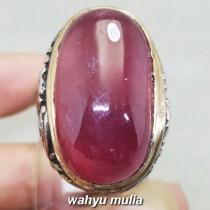 Batu Ruby Merah Delima Jumbo Besar Asli bersertifikat