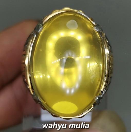 Cincin Batu Kecubung Bensin Kuning Citrine Jumbo Asli bersertifikat