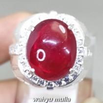 Batu Akik Ruby Merah Delima Ring Perak Asli paling dicari