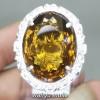 Batu Cincin Yellow Citrine Golden Medeira asli pria wanita