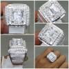 Batu Cincin White Topaz Putih Bening kotak Ring Perak Asli_6