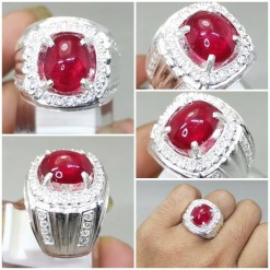 Batu Natural Ruby Asli Ring Perak original_6