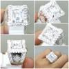 Batu Topaz Putih Bening Kristal Ring Perak Asli_6