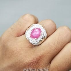 Natural Batu Ruby Pink Ring Perak Asli_5
