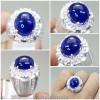 Batu Akik Asli Blue Safir Ring perak_5