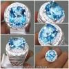 Batu Permata Asli Blue Topaz Ring Perak_2