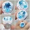 Cincin Batu Asli Blue Topaz Swiss Millenium Cut_5