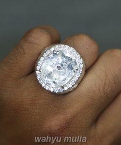 Cincin Batu Kecubung Es Air Kristal Quartz Natural Ring Perak_4